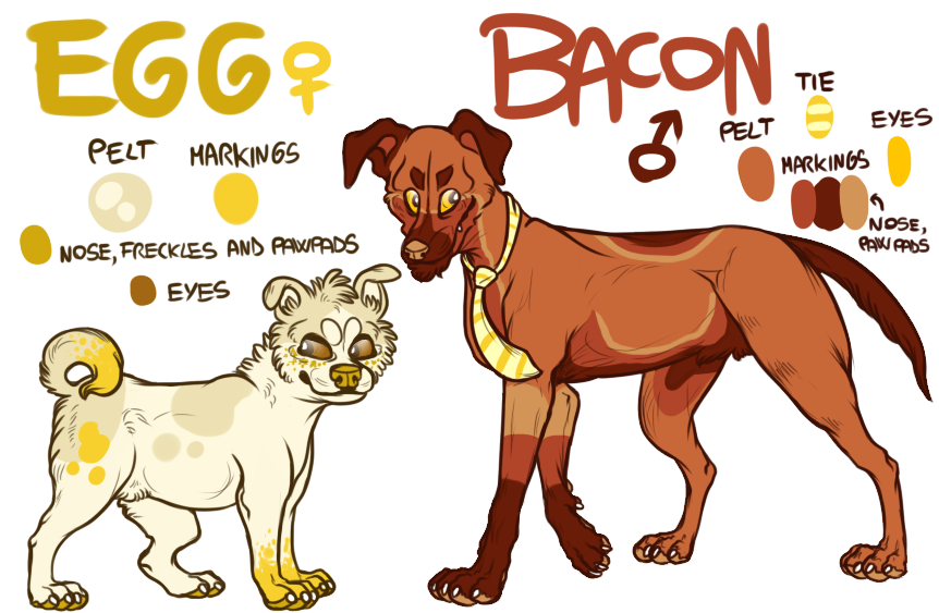 Bacon and Egg by CrashSpyro98