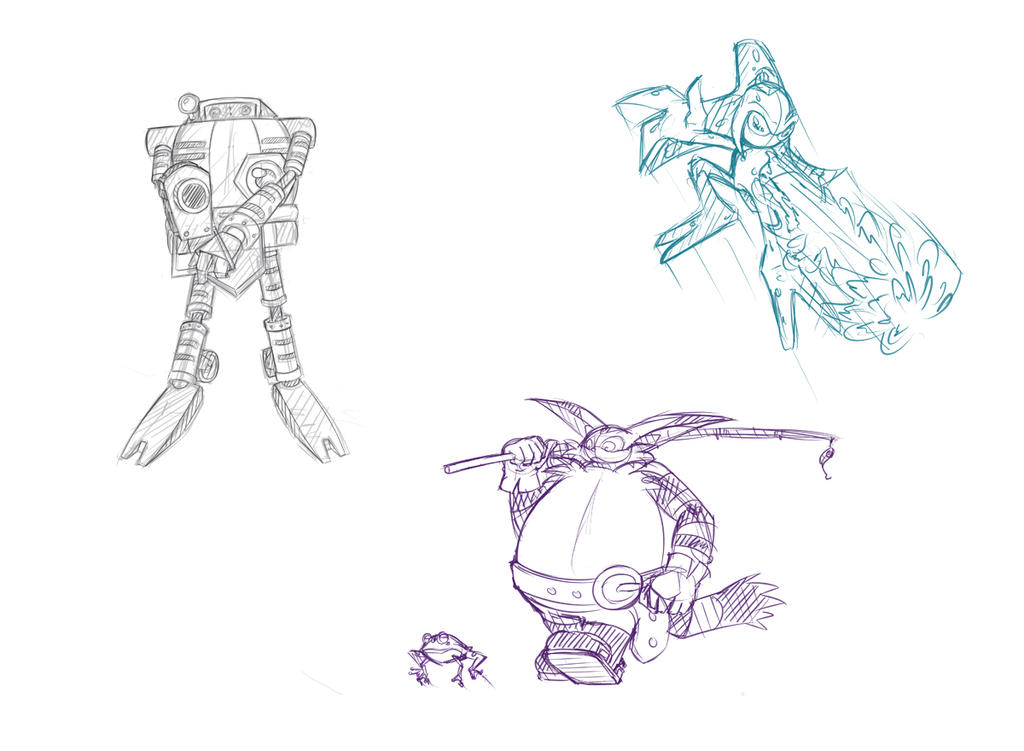 sonic_adventure___sketches_1_by_spyhedg-