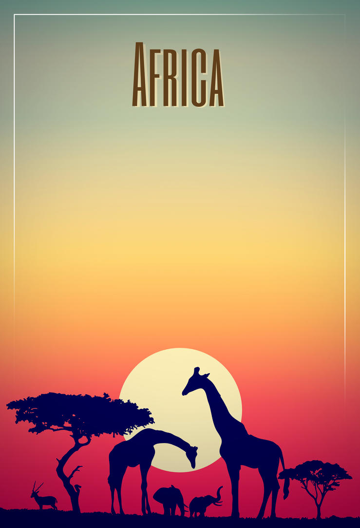 Poster design deviantart - Poster Design Title Africa By Miqueleno