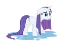 Rarity Soaked by the Rain