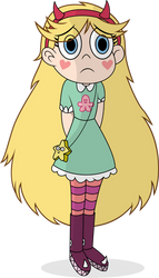 Sad Worried Star Butterfly with Shadowing by sorata-daidouji