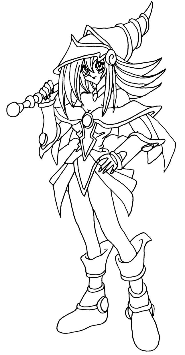 Dark Magician Girl Blackwhite By Elfkena On Deviantart