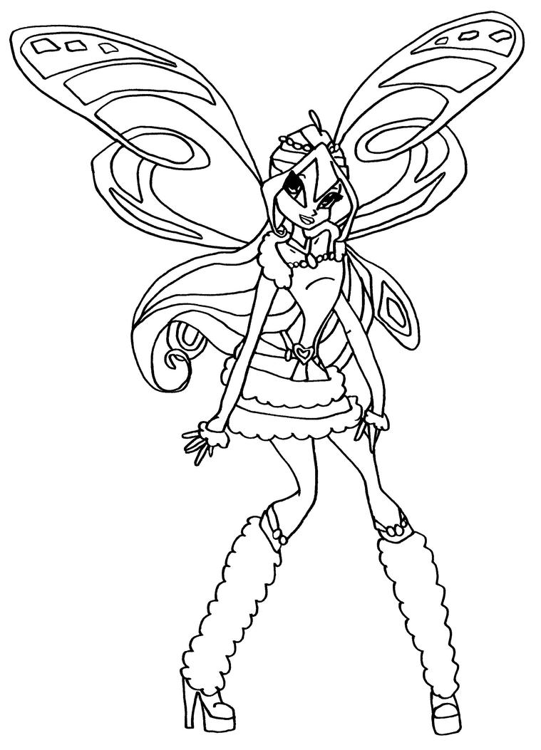 winx club coloring pages lovix - photo#9