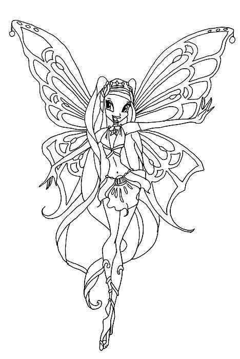 Comment dessiner une winx enchantix for Winx club stella coloring pages