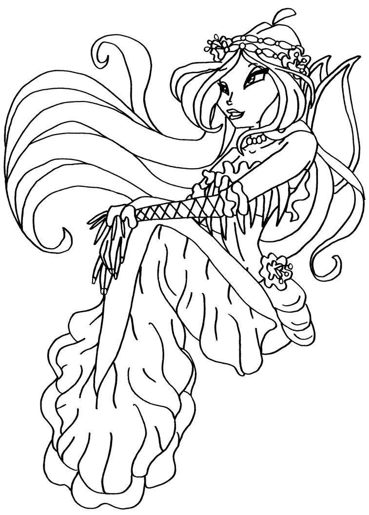 bw mermaid flora 2 by elfkena on deviantart