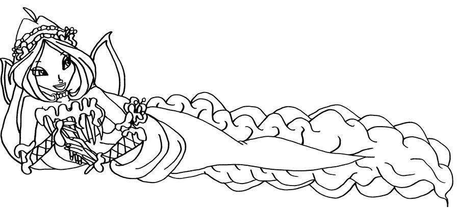 Раскраски русалки винкс для девочек распечатать