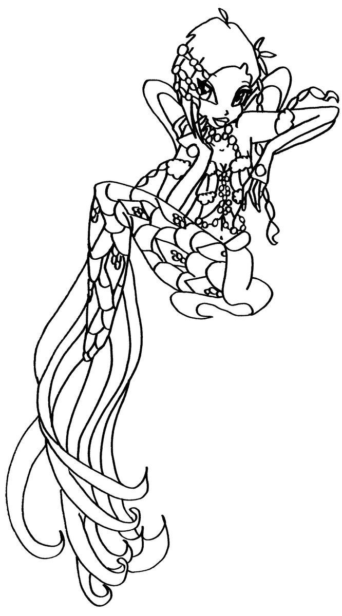bw mermaid tecna 2 by elfkena on DeviantArt