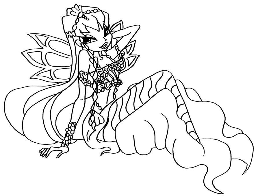 bw mermaid stella 3 by elfkena on DeviantArt