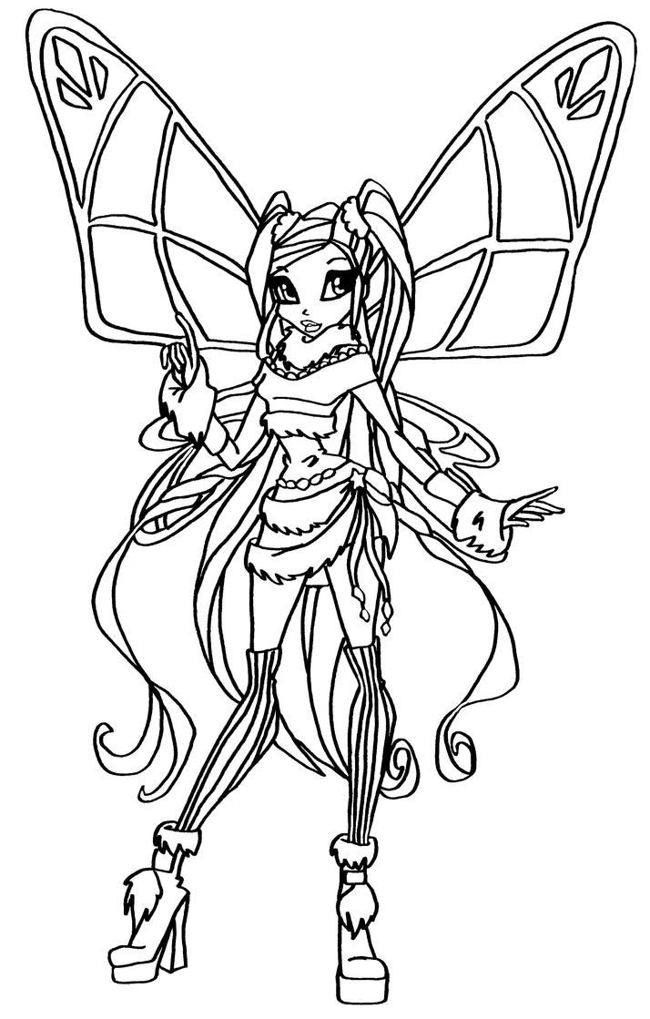 Bw stella lovix by elfkena on deviantart for Winx club stella coloring pages
