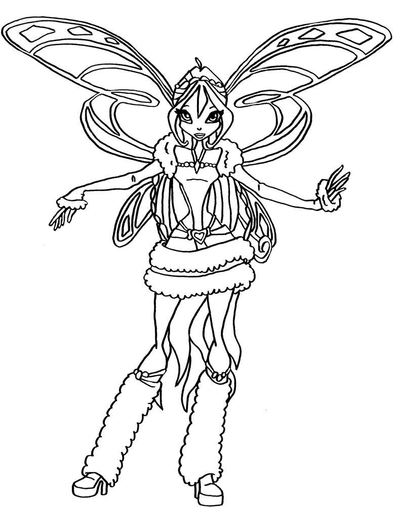 winx bloom coloring pages - bw bloom lovix by elfkena on deviantart