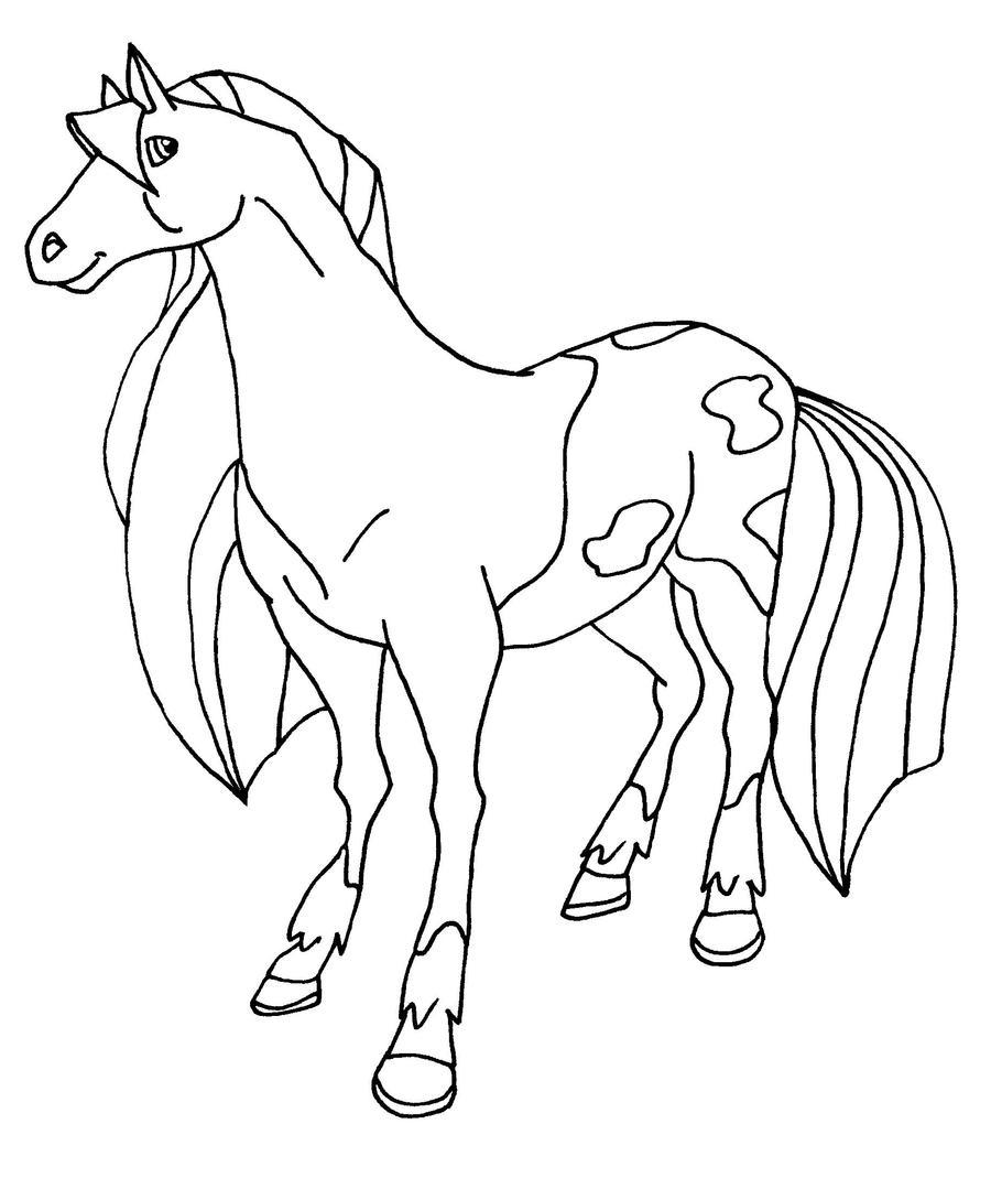 Paarden Kleurplaat Pepper Calypso Bw By Elfkena On Deviantart
