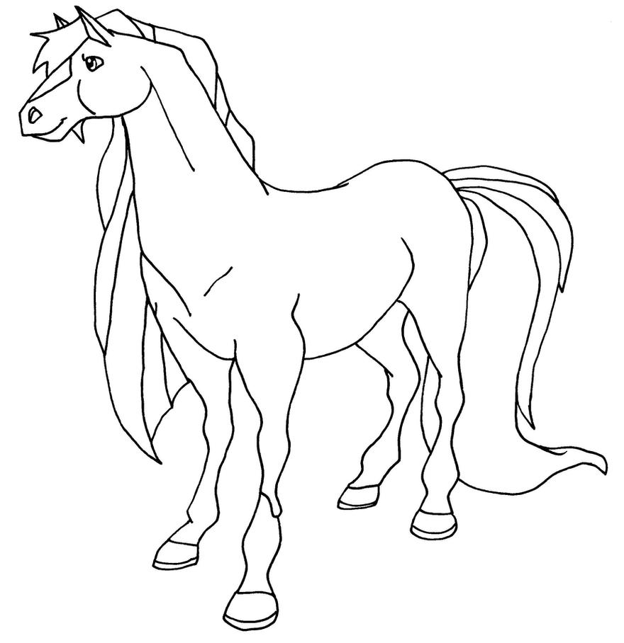 jimber bw by elfkena - Horseland Coloring Pages Print