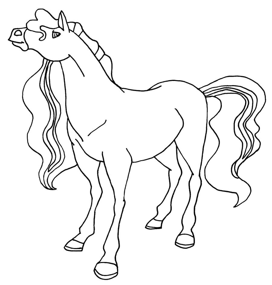 Pepper bw by elfkena on deviantart for Coloring pages horseland