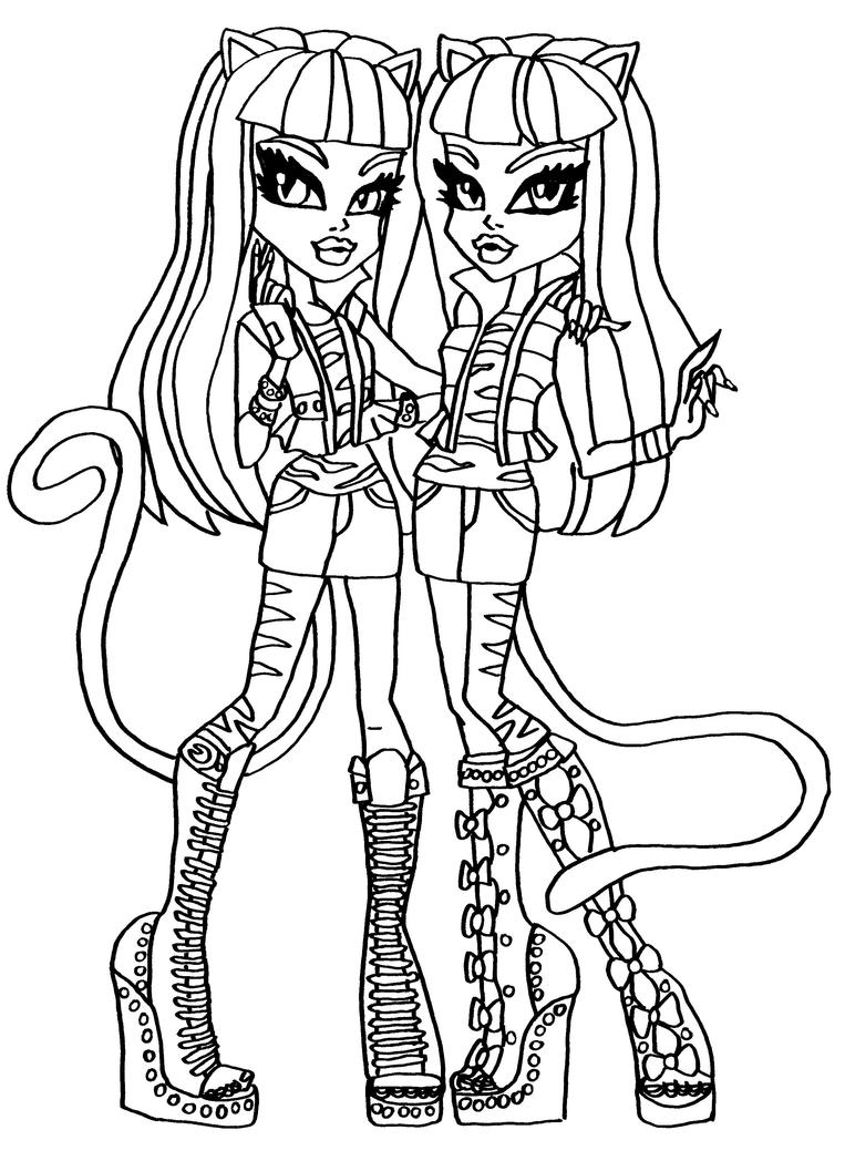Draculaura Monster High Coloring Page | Ari & Sofia | Pinterest ...