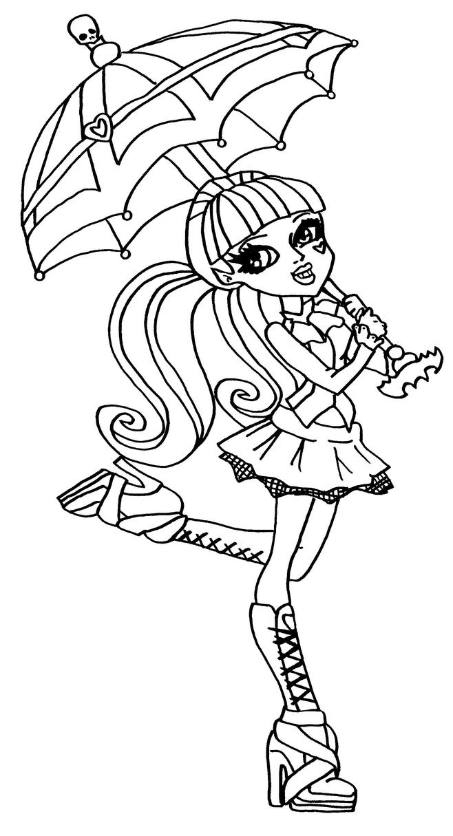 print girls monster high coloring page or download girls monster