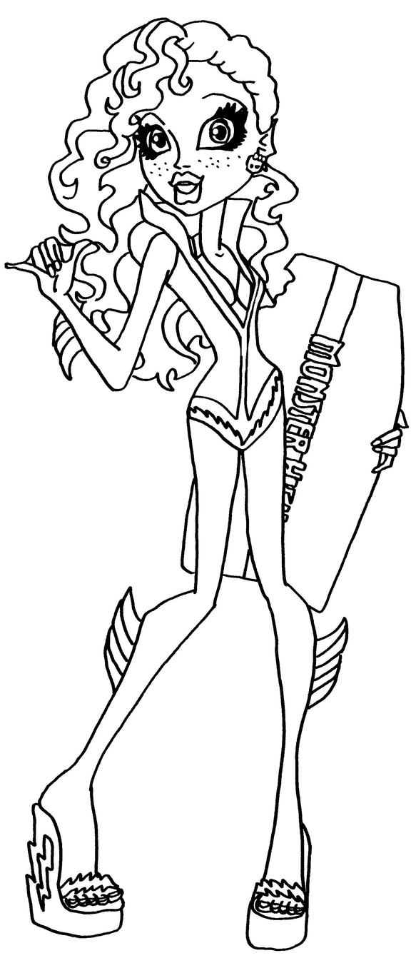 monster high coloring pages lagoona - photo#6
