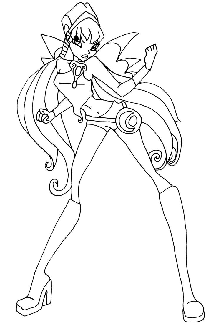 Stella charmix pose by elfkena on deviantart for Winx club stella coloring pages