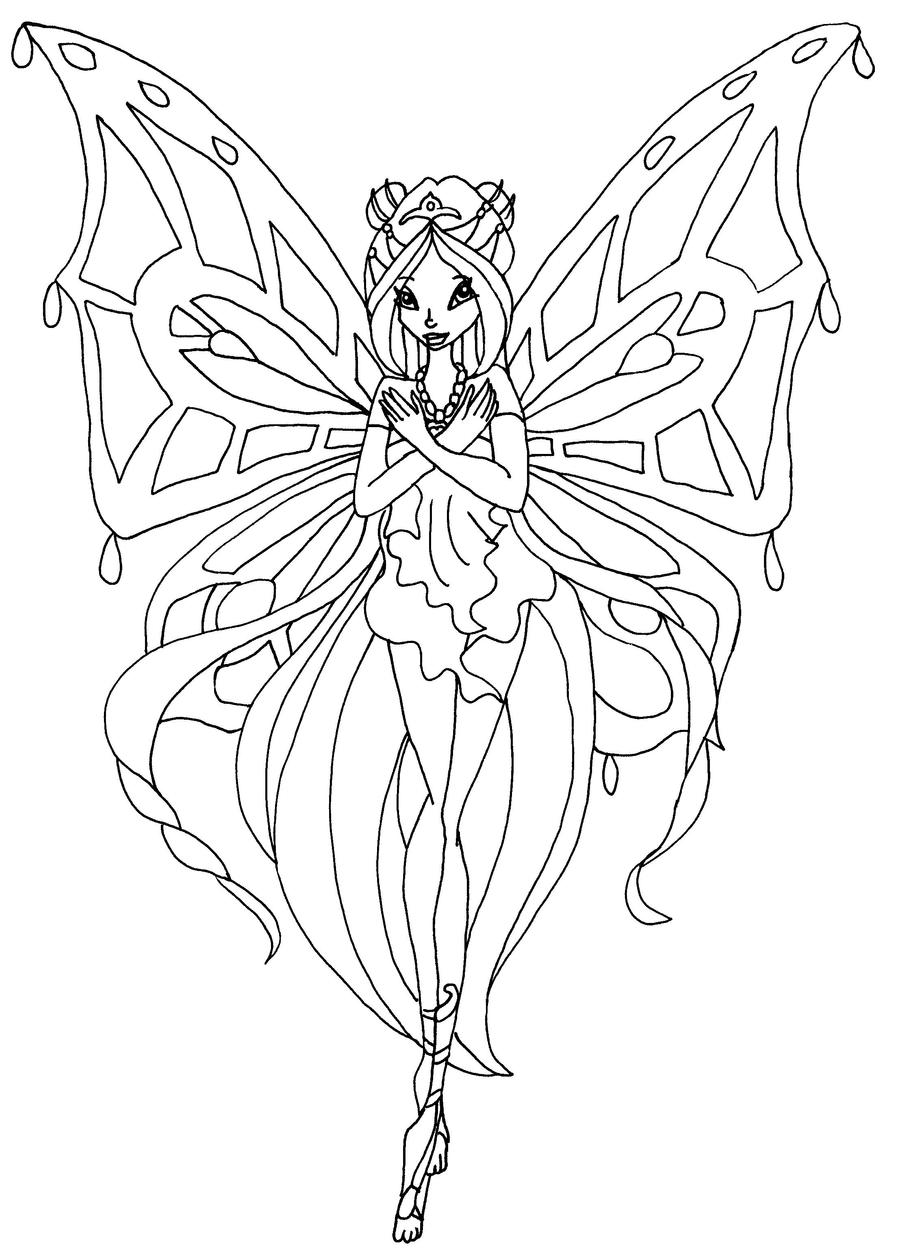 winx club flora coloring pages - photo#11