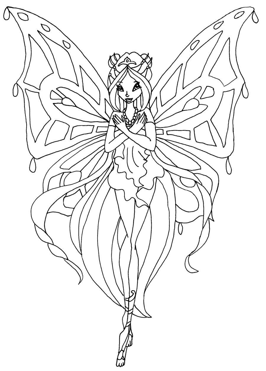 Enchantix flora by elfkena on deviantart - Coloriage winks ...
