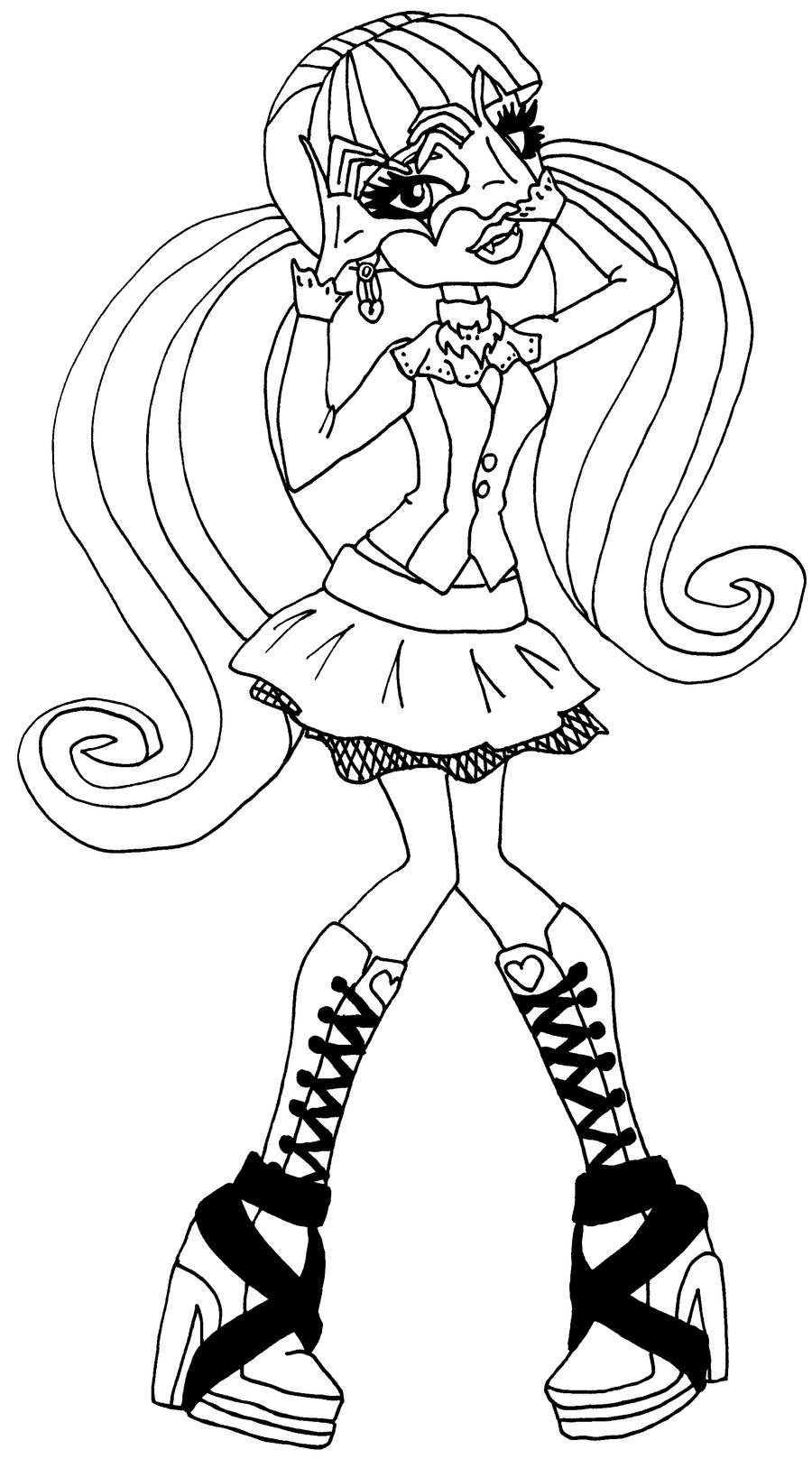 Draculaura Sweet  Coloring Pages