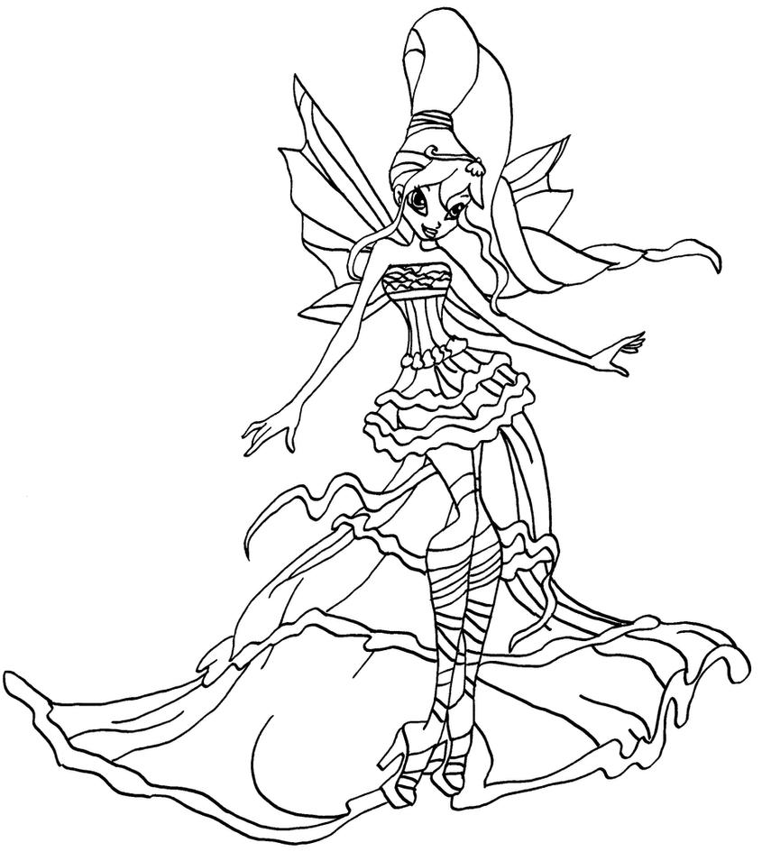 Winx Club Harmonix Coloring Pages Coloring Pages