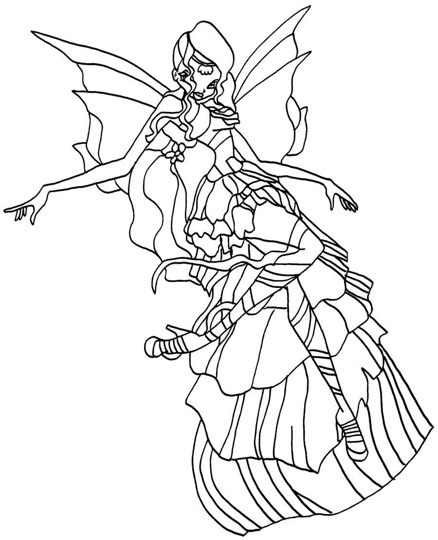 layla winx coloring pages - photo#32