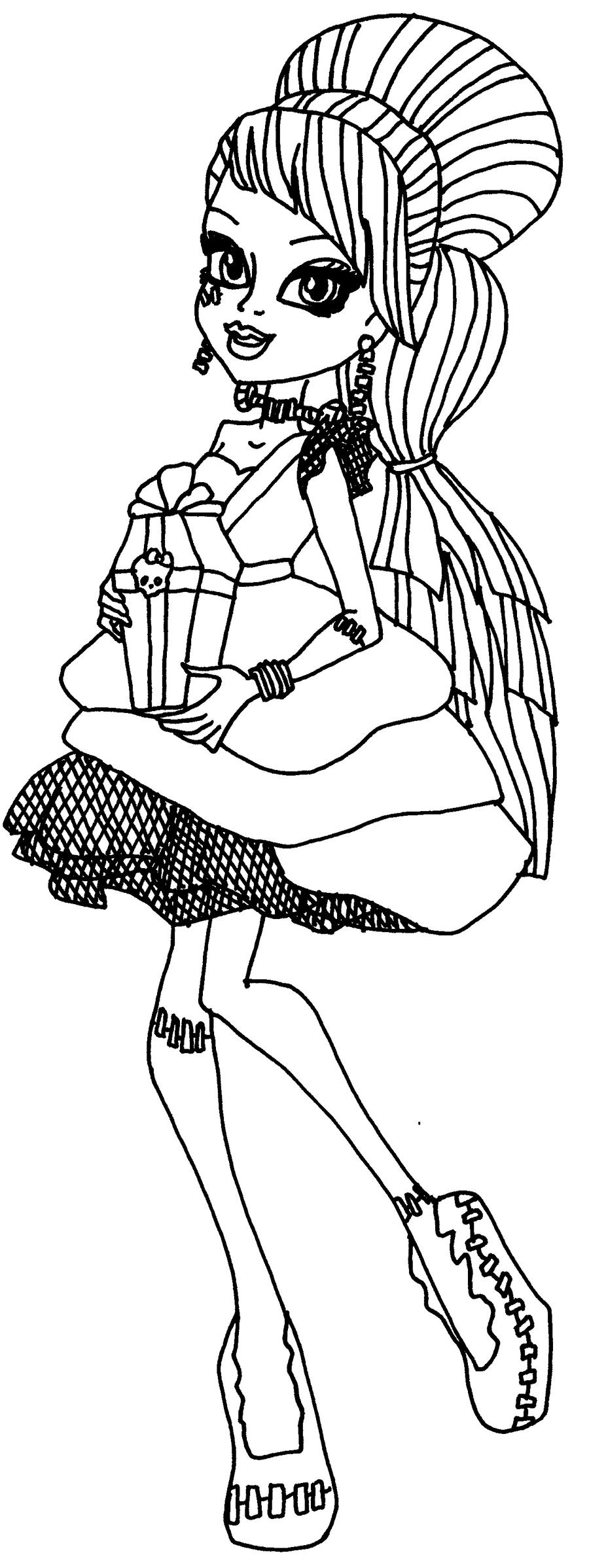 fancy monster high coloring pages draculaura and frankie pictures