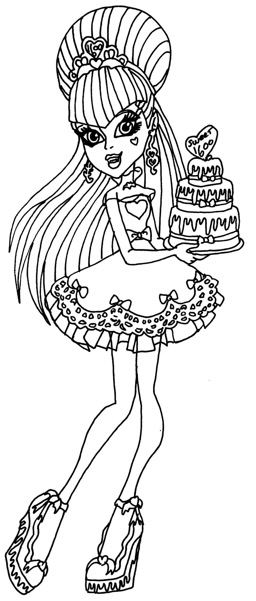 Draculaura sweet 1600 by elfkena on deviantart for Draculaura monster high coloring pages