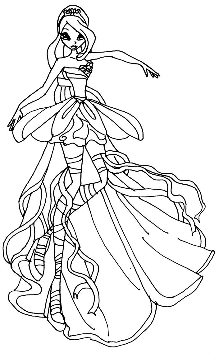 magic winx coloring pages | bloom harmonix bw by elfkena on DeviantArt