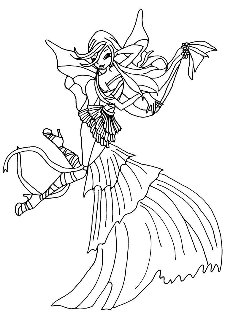 Musa harmonix bw by elfkena on deviantart for Disegni winx sirenix da colorare