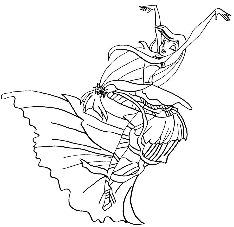 Musa Harmonix Bw By Elfkena Winx Club Coloring Pages