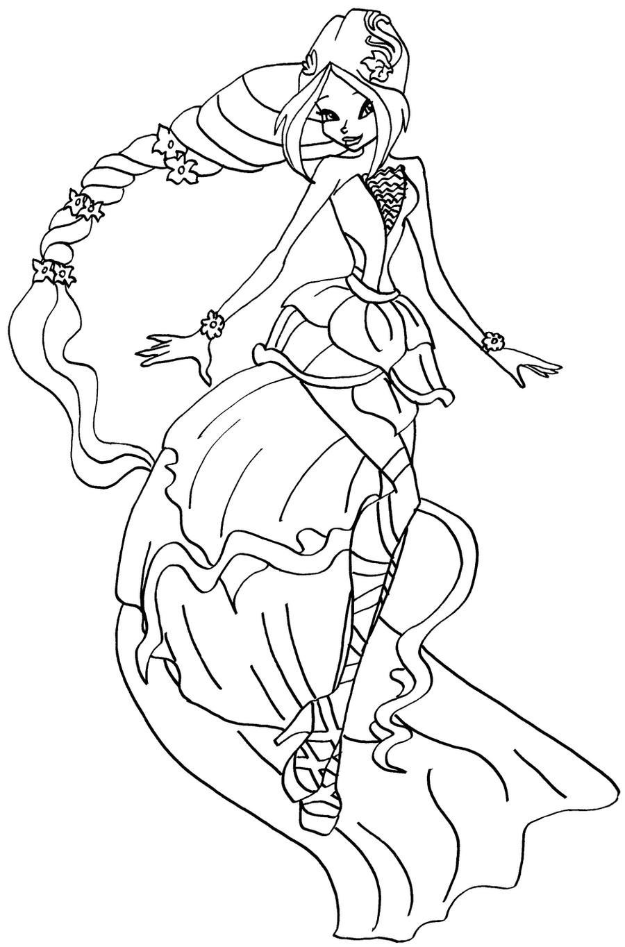 winx club flora coloring pages - photo#22