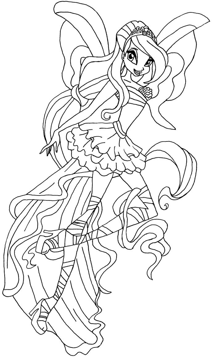 Harmonix bw bloom by elfkena on deviantart for Bloom winx coloring pages