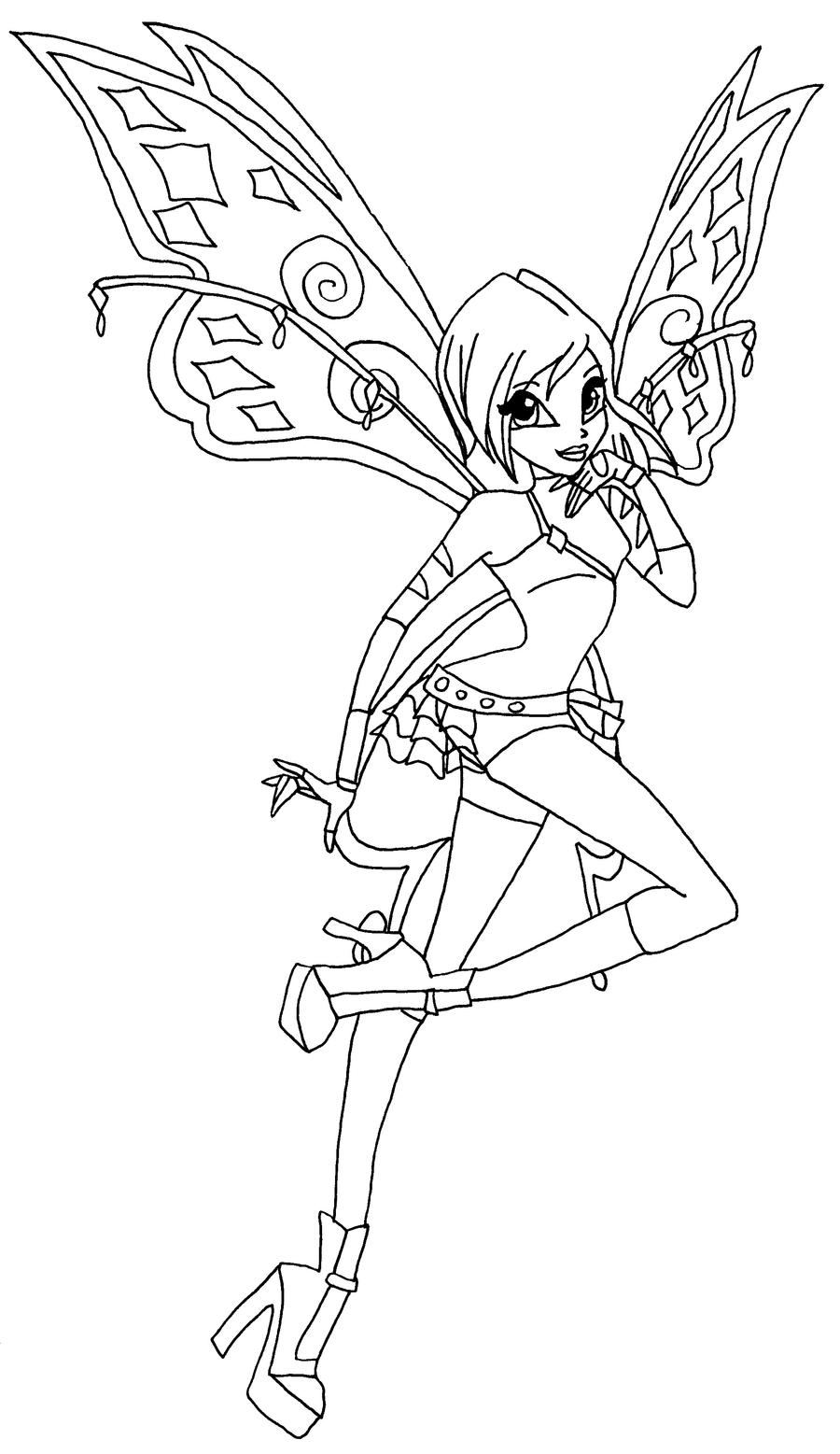 Winx Club Believix Coloring Pages - 160.0KB
