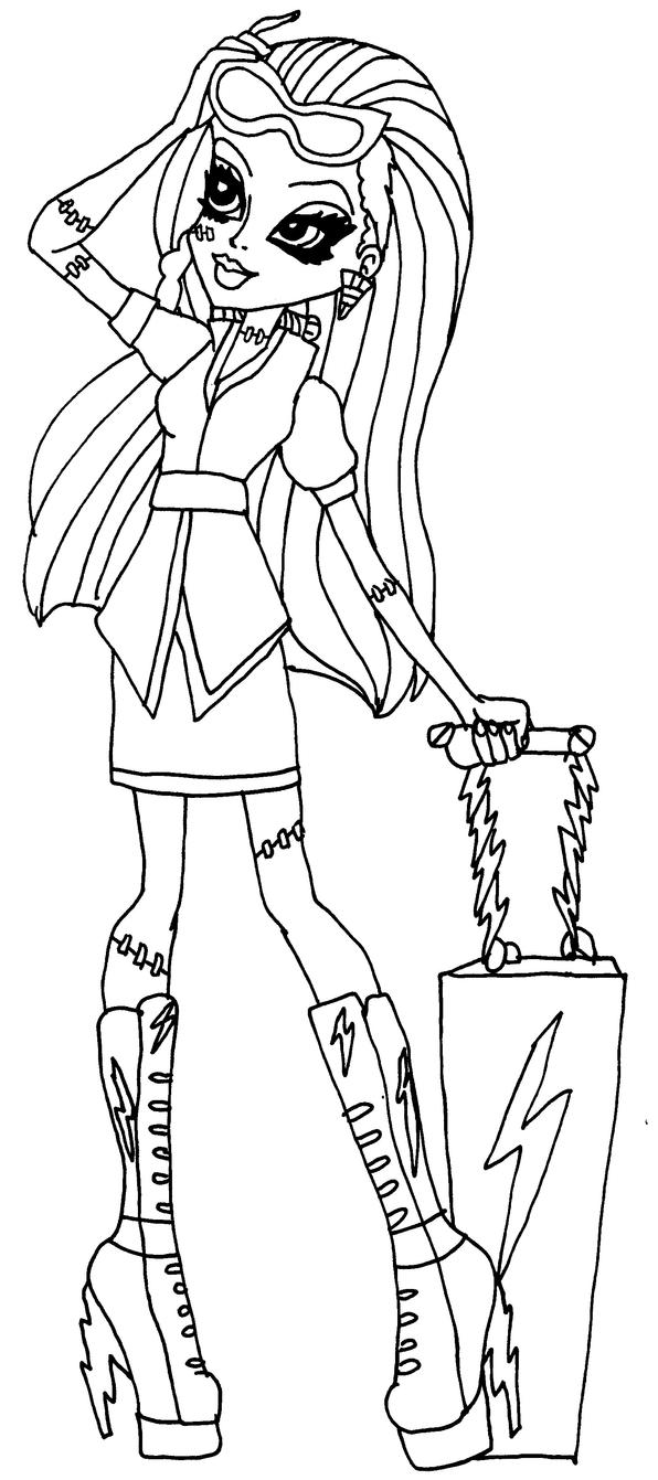 Monster high coloring pages scaris