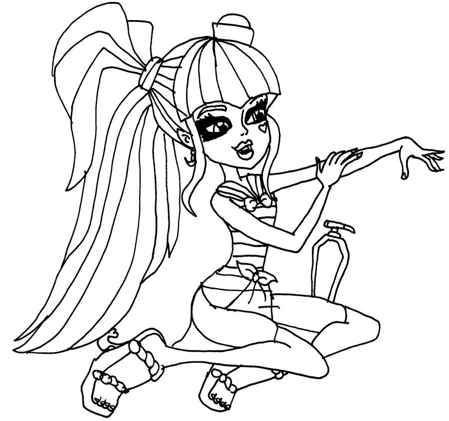 Skull shores draculaura by elfkena on deviantart for Draculaura monster high coloring pages