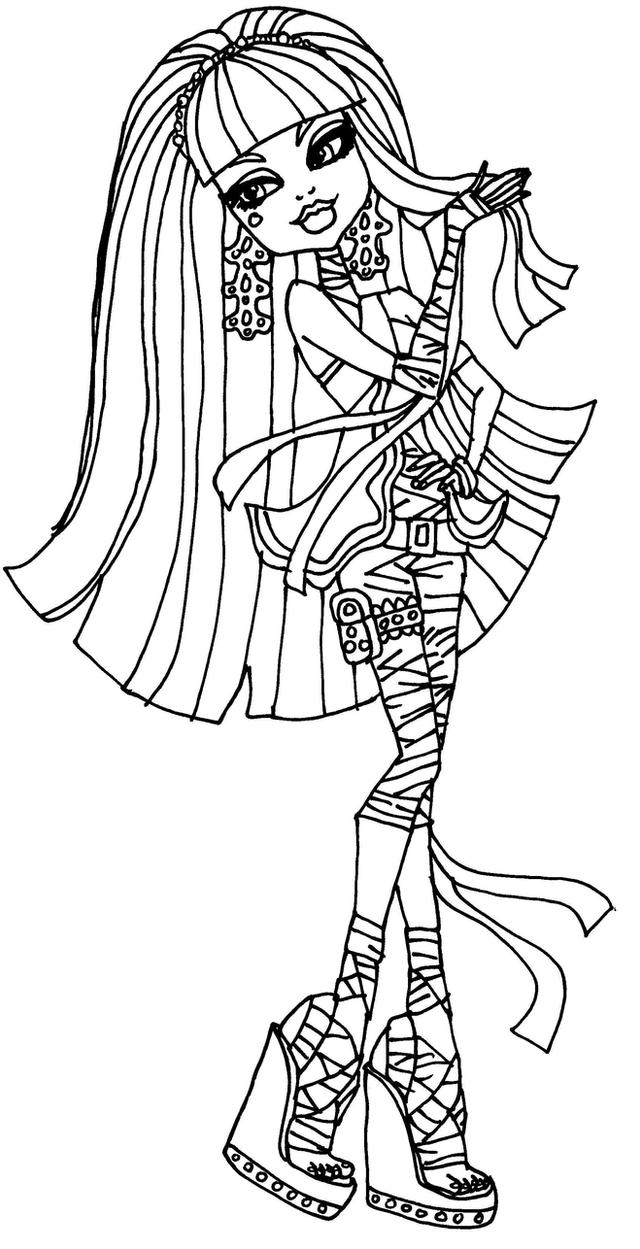 Monster High Coloring Pages Scaris Monster High Coloring Pages