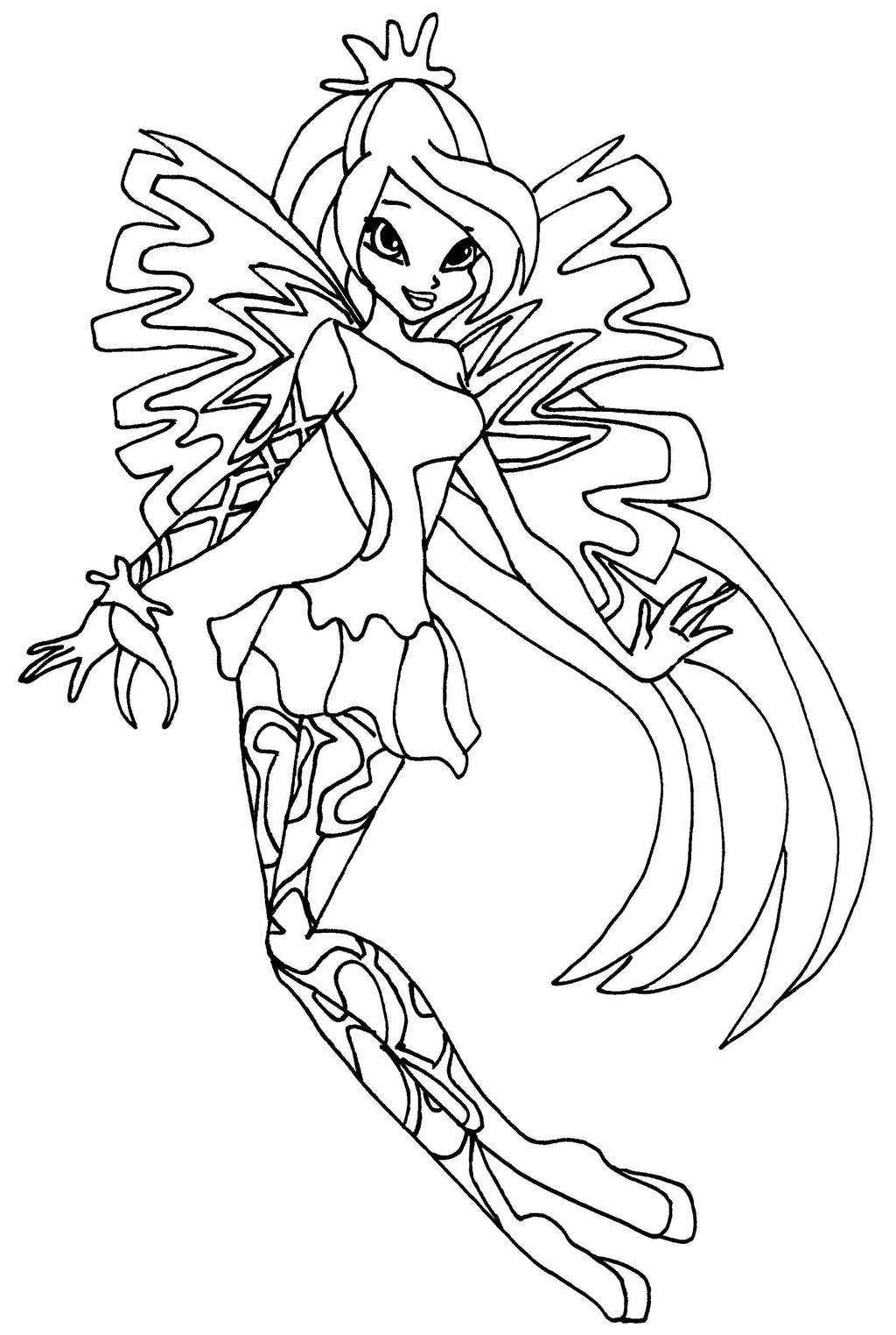 Sirenix bloom by elfkena on deviantart for Bloom winx coloring pages