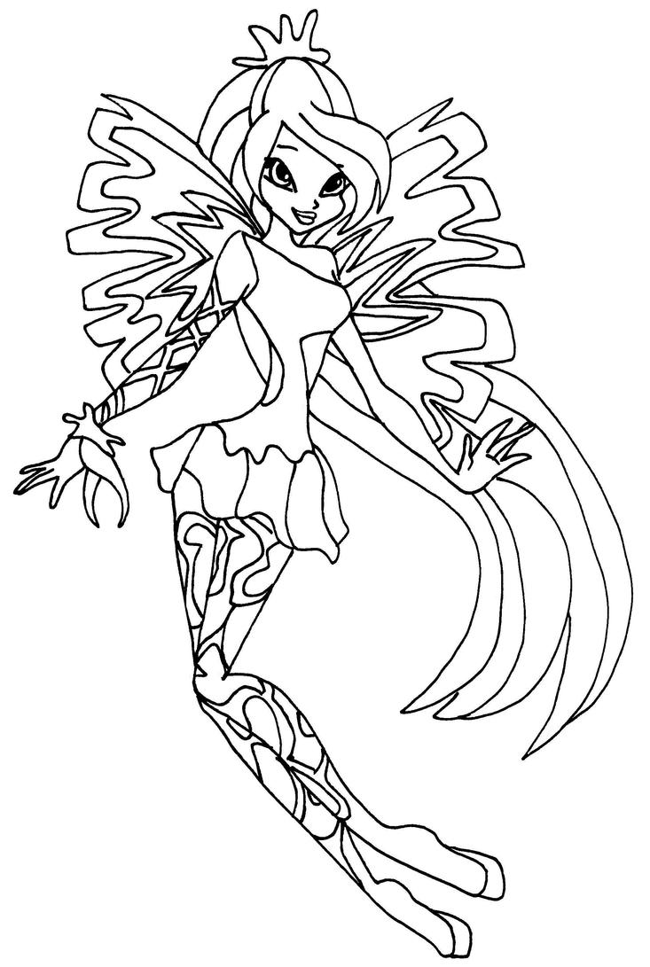 winx sirenix coloring pages sirenix bloom by elfkena on deviantart