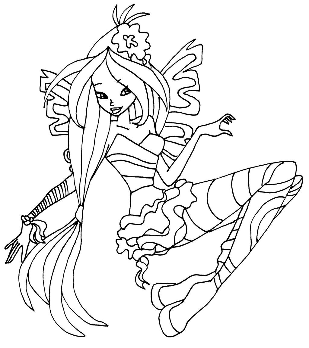 winx sirenix coloring pages - flora sirenix by elfkena on deviantart