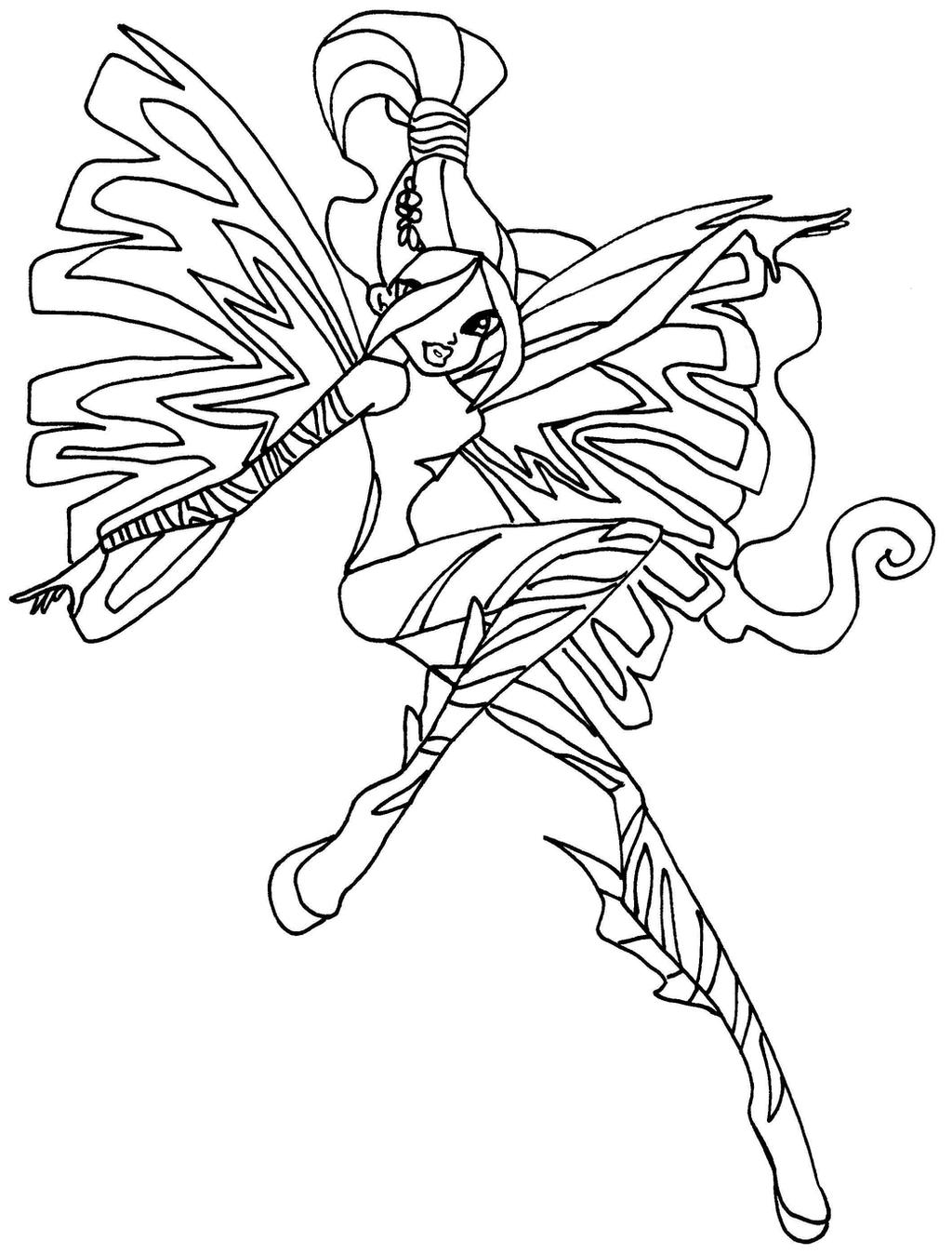 layla winx coloring pages - photo#27