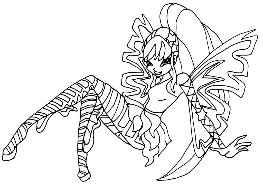 Winx Club Stella Believix Coloring Pages