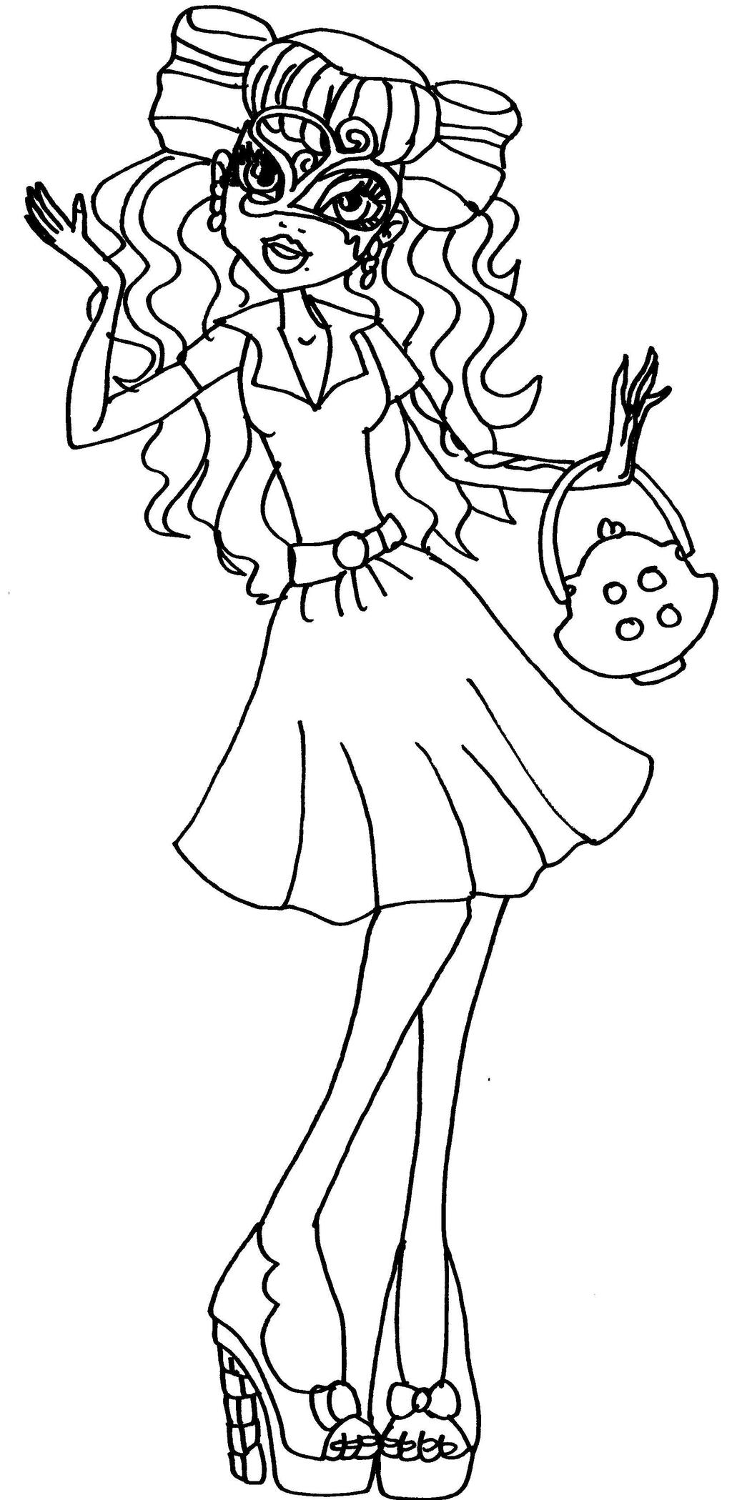 Operetta by elfkena on deviantart for Operetta monster high coloring pages