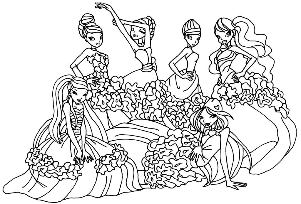winx coloring pages by elfkena on deviantart