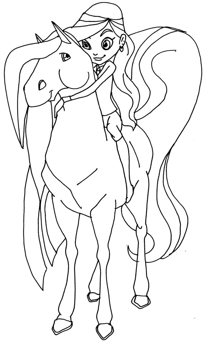 Horseland sarah scarlet by elfkena on deviantart for Coloring pages horseland