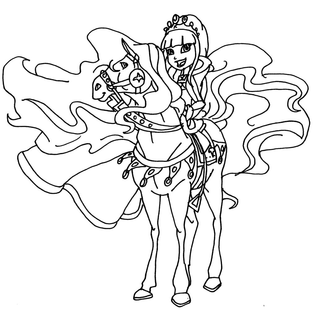Horseland princess by elfkena on deviantart for Coloring pages horseland
