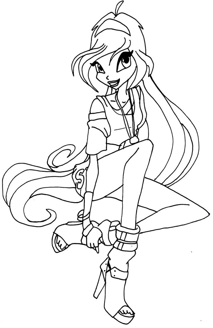 Disco bloom by elfkena on deviantart for Bloom winx coloring pages