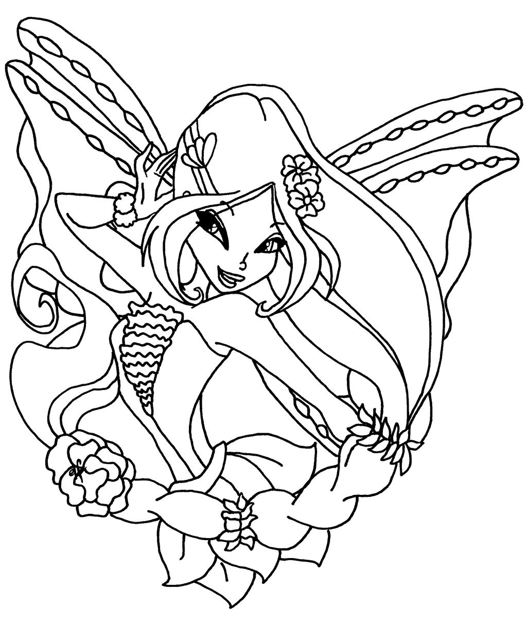 Flora From Winx Coloring Pages