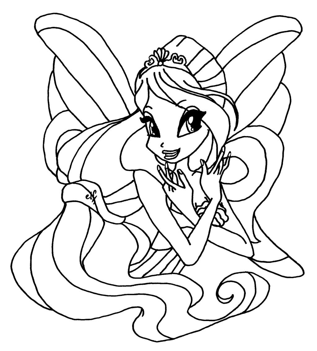 Bloom harmonix by elfkena on deviantart for Bloom winx coloring pages