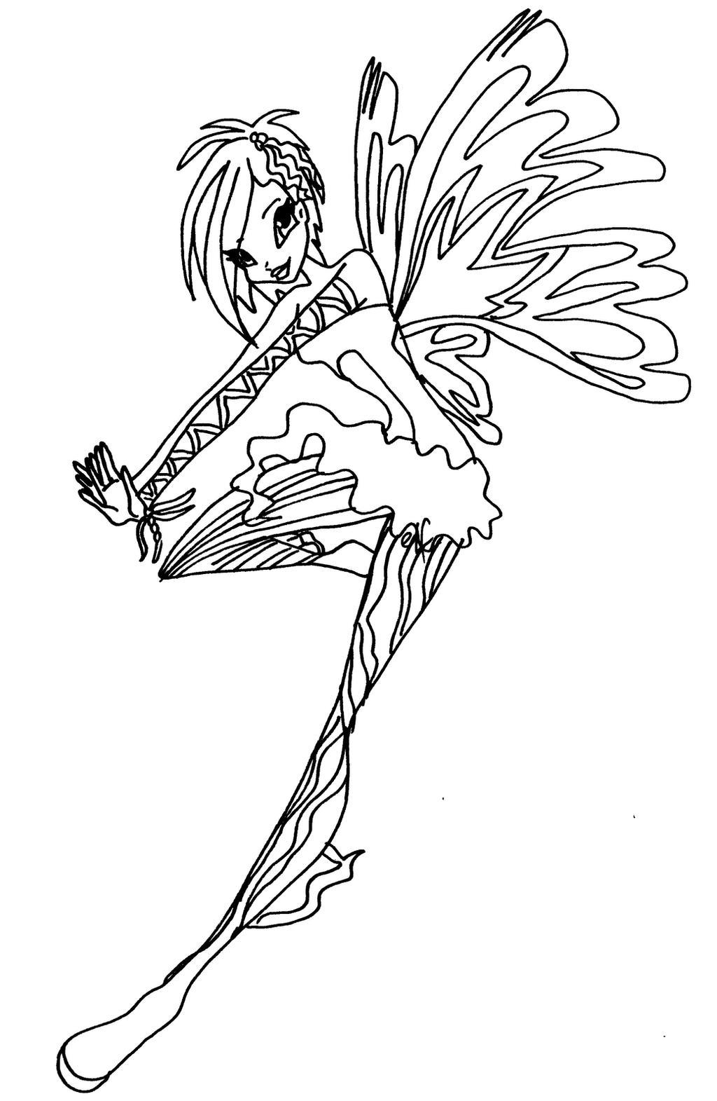 Sirenix tecna by elfkena on deviantart for Disegni winx sirenix da colorare